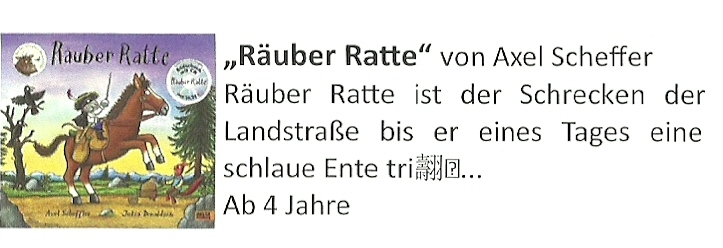 Buchvorschlag Räuber Ratte