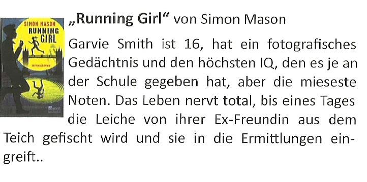 Buchvorschlag Running Girl